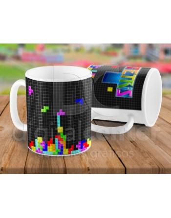 Taza arcade Tetris