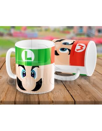 Taza arcade Mario & Luigi