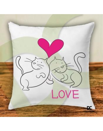 Cojín gatos pareja