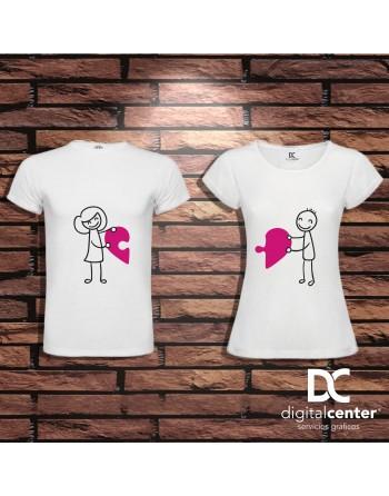 Pack 2 Camisetas Corazón