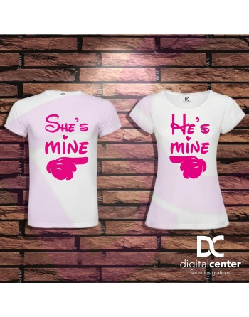 Pack 2 Camisetas He and She