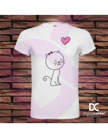Camiseta hombre Cat in Love