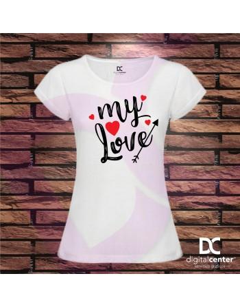Camiseta Mujer my love