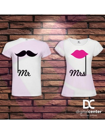 Pack 2 Camisetas Mr and Mrs