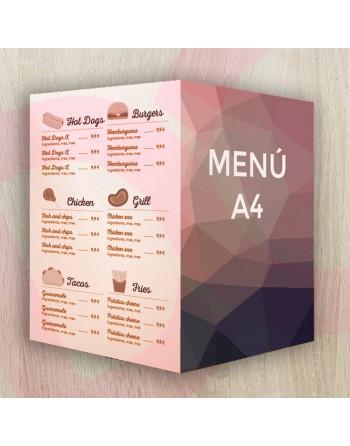 Díptico carta/menú A4 -...