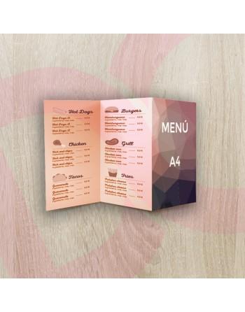Tríptico carta/menú A4 -...