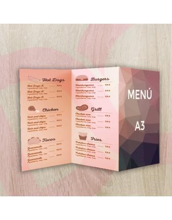 Tríptico carta/menú A3 -...