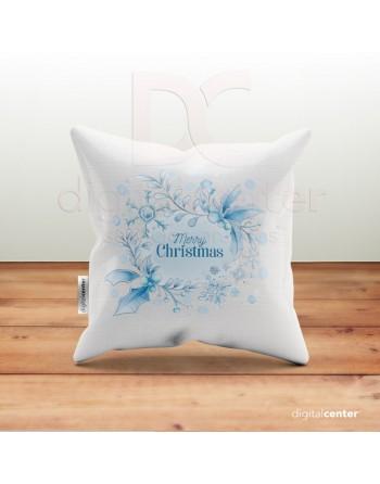 Cojín Christmas azul