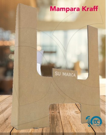 Mampara protección 100% reciclable