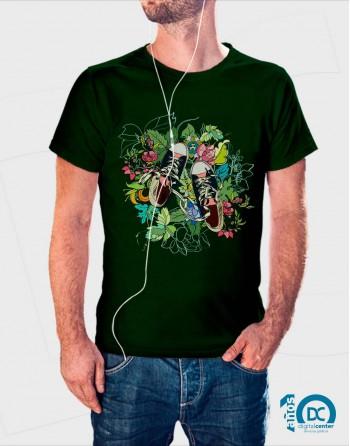 Camiseta Floral Zapatillas