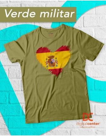 Camiseta  Corazón España