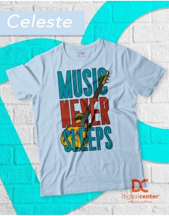 Camiseta Música nunca duerme