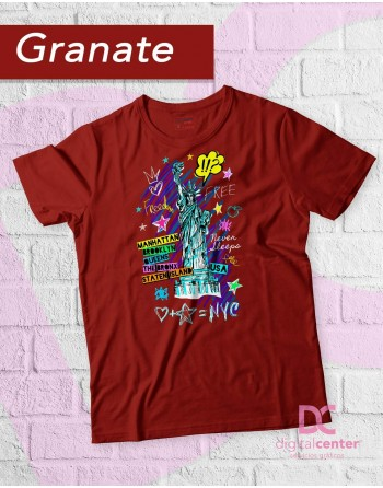 Camiseta ilustración Nueva...