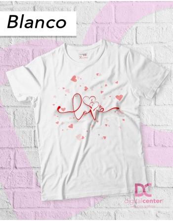 Camiseta Love corazones