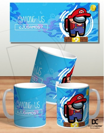 Taza, AmongUS Mario Bross