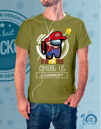 Camiseta AmongUs Supermario