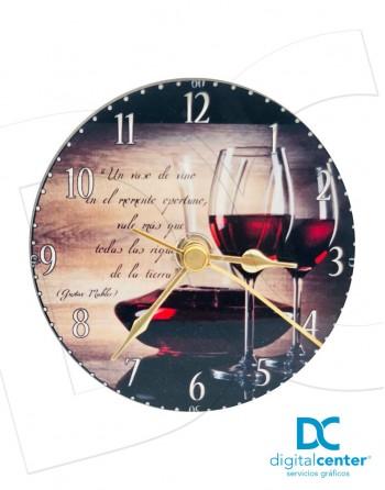 Reloj de mesa redondo personalizado