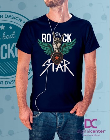 Camiseta Rock and Roll star