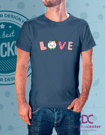 Camiseta Love Gatitos