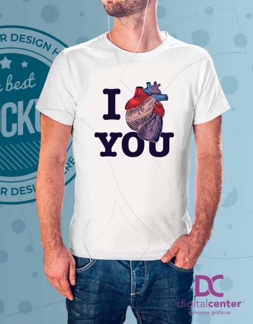 Camiseta Love heart