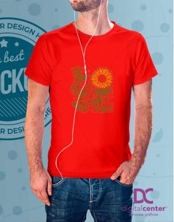 Camiseta Love Girasol