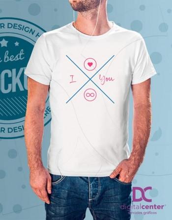 Camiseta I Love You Infinito